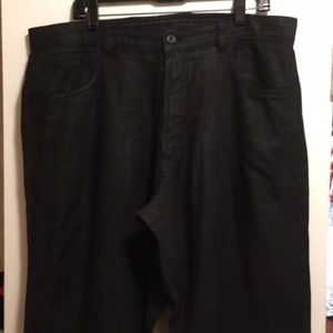 Black 100% Linen Ermenegildo Zegna Men's Pant